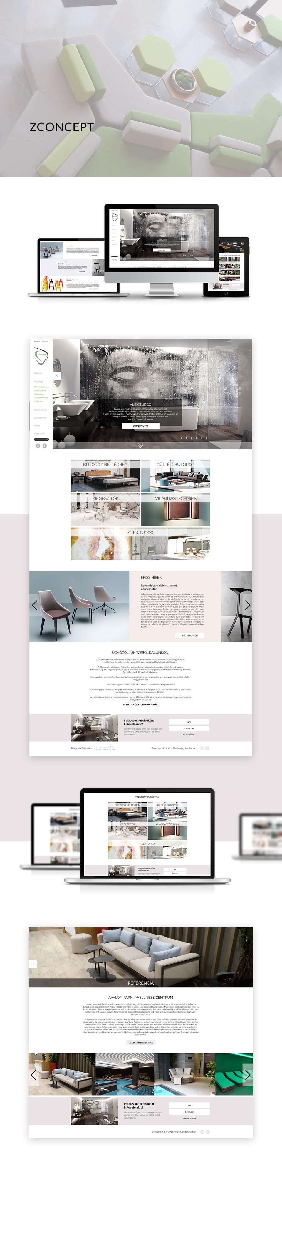 Egyedi weboldal design